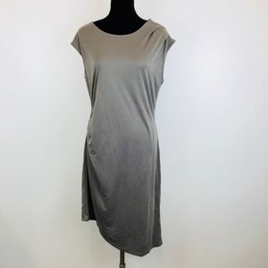 NEW Bar III Hazy Taupe Asymmetrical Dress, Size L
